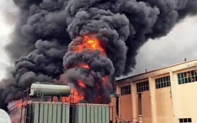 Fire Shuts Down Uttar Pradesh Substation.