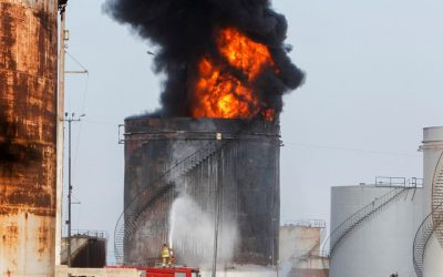 Petroleum Storage Tank Fire Outbreak In Lebanon